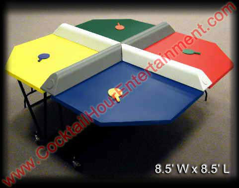 4 player ping pong party game rental