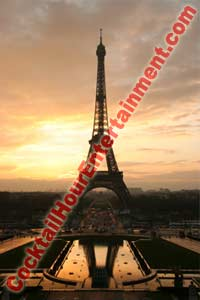 digital backdrop sample 51 eiffel tower at sunset