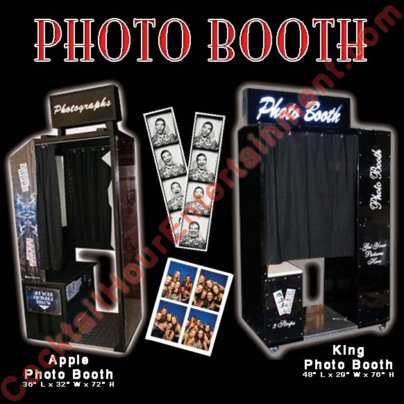 photo booth rentals apple & king photo booths