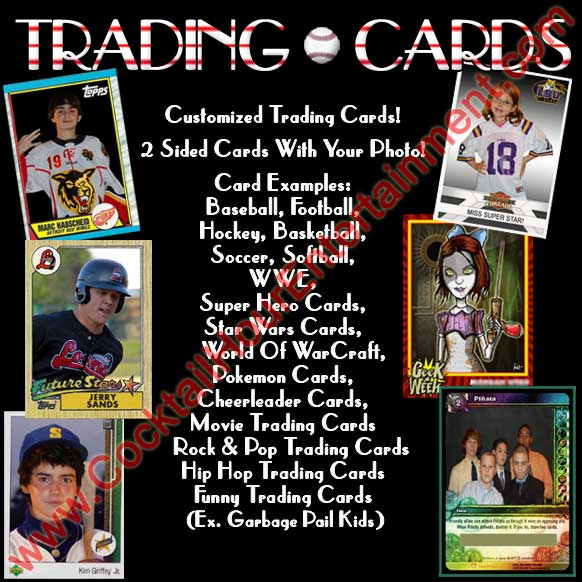 green screen trading cards baseball cards