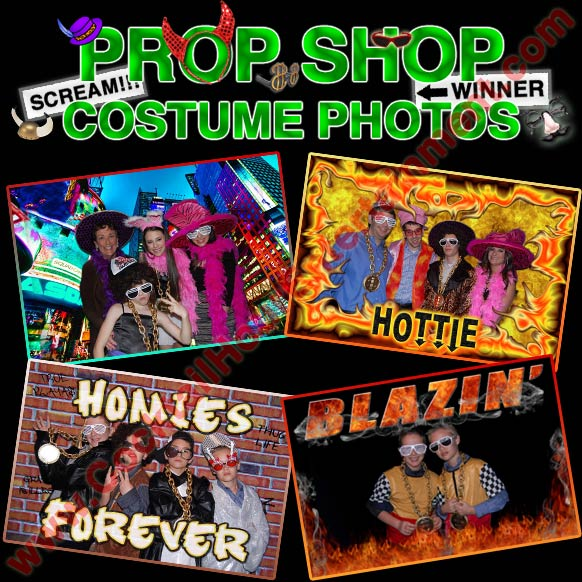 green screen photos with costumes & props