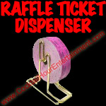 Raffle Ticket Dispenser for carnivals or fairs